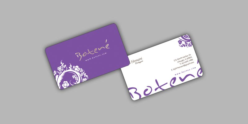Botene Visiting Card Design