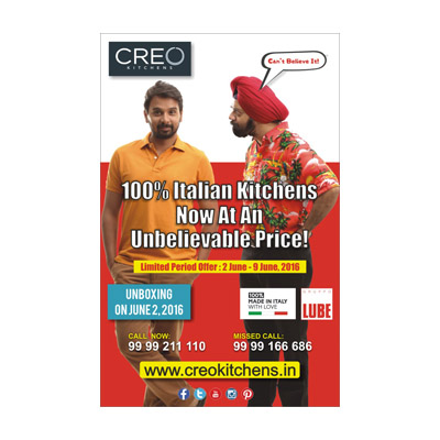 Creo Kitchens Newspaper Ad